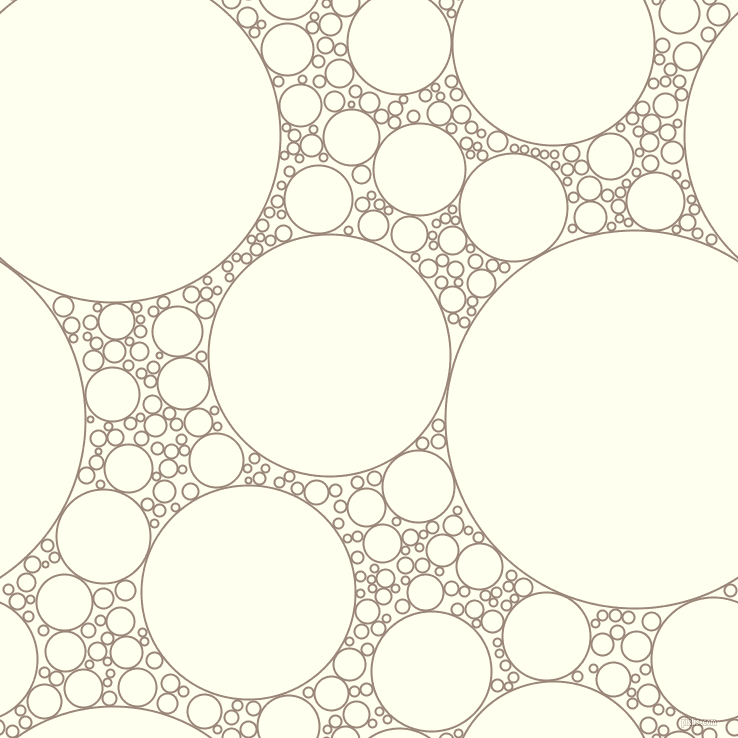 bubbles, circles, sponge, big, medium, small, 2 pixel line width, Almond Frost and Ivory circles bubbles sponge soap seamless tileable