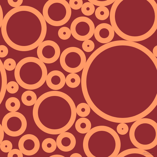 bubbles, circles, sponge, big, medium, small, 17 pixel line width, Atomic Tangerine and Bright Red circles bubbles sponge soap seamless tileable