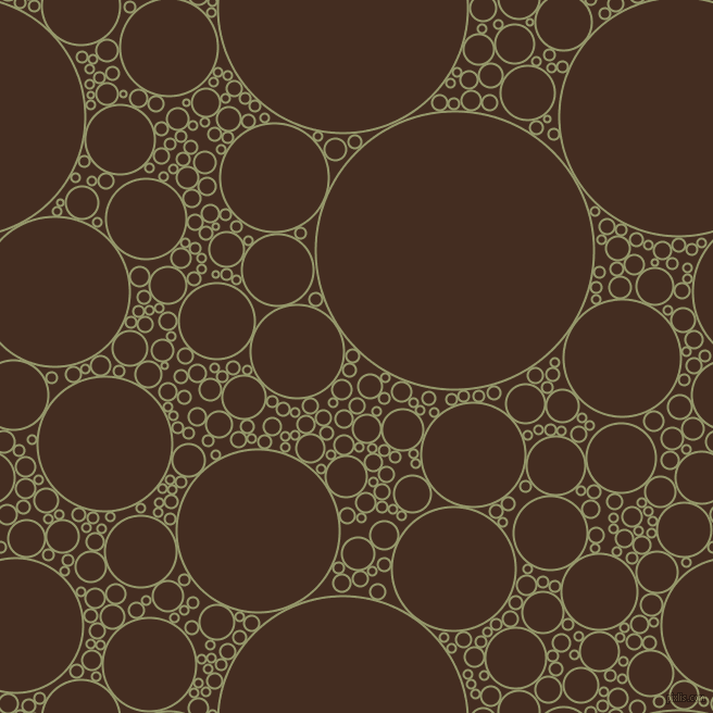 bubbles, circles, sponge, big, medium, small, 2 pixel line width, Avocado and Morocco Brown circles bubbles sponge soap seamless tileable