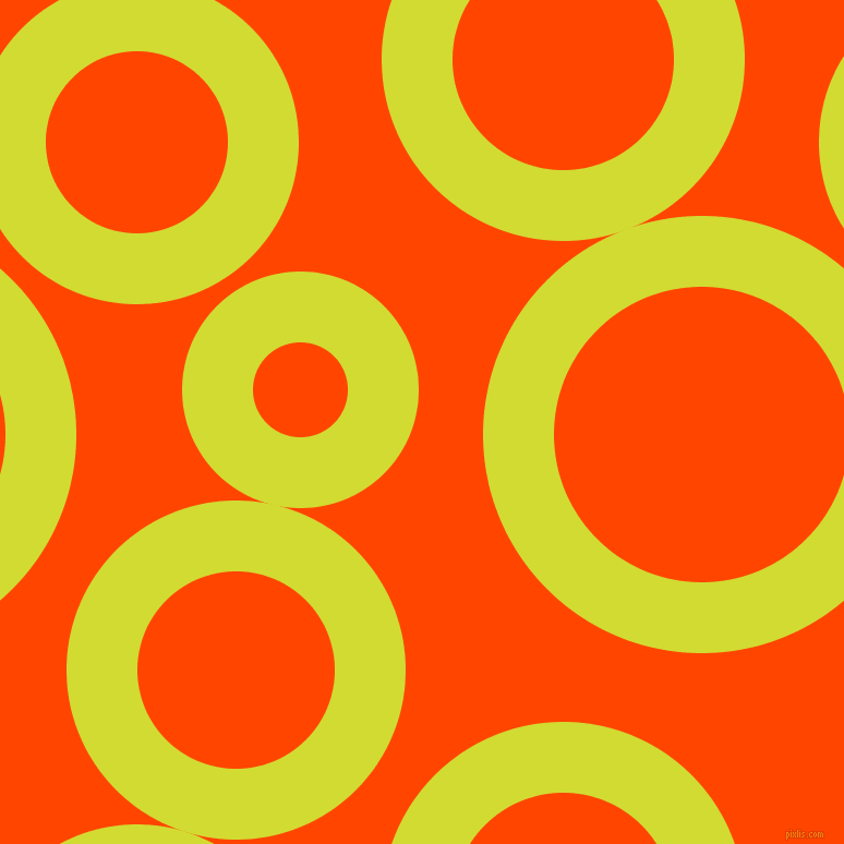 bubbles, circles, sponge, big, medium, small, 65 pixel line width, Bitter Lemon and Orange Red circles bubbles sponge soap seamless tileable