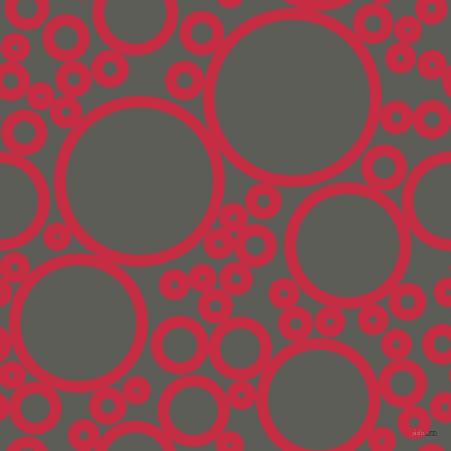 bubbles, circles, sponge, big, medium, small, 17 pixel line width, Brick Red and Chicago circles bubbles sponge soap seamless tileable