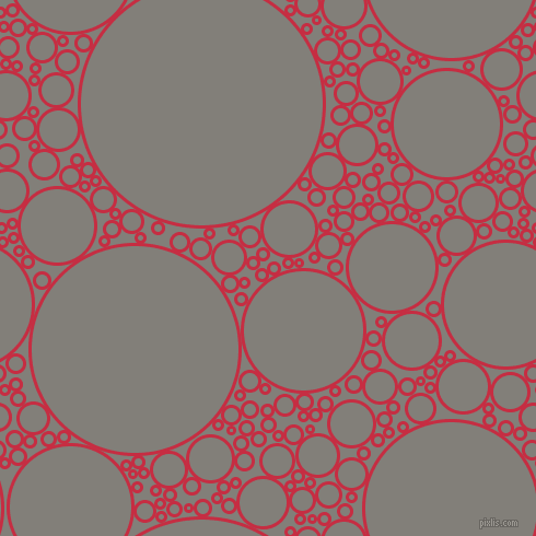 bubbles, circles, sponge, big, medium, small, 3 pixel line width, Brick Red and Concord circles bubbles sponge soap seamless tileable