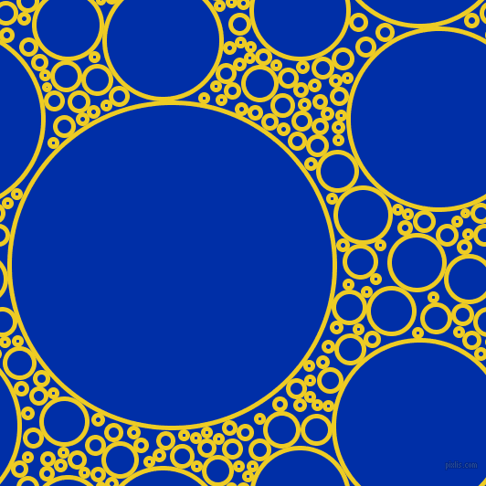 bubbles, circles, sponge, big, medium, small, 5 pixel line width, Broom and International Klein Blue circles bubbles sponge soap seamless tileable