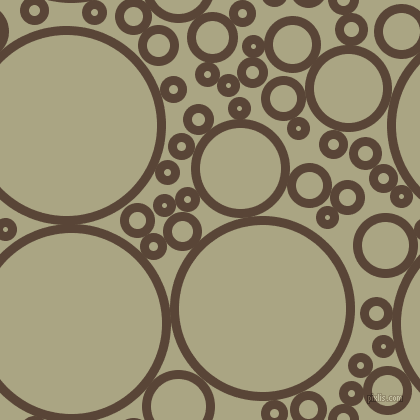 bubbles, circles, sponge, big, medium, small, 9 pixel line width, Brown Derby and Neutral Green circles bubbles sponge soap seamless tileable
