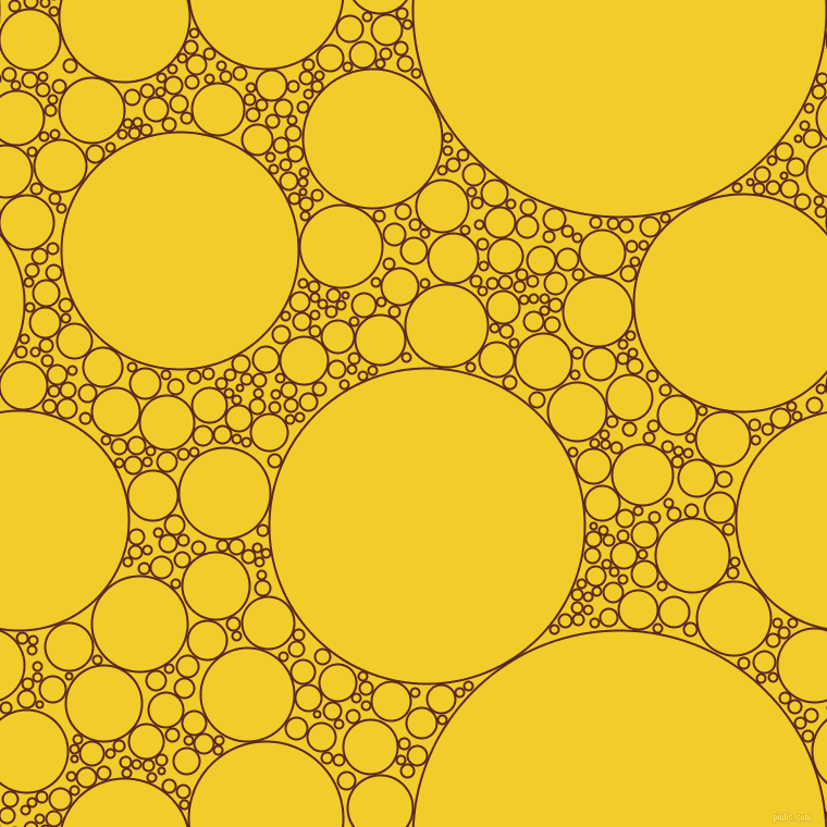bubbles, circles, sponge, big, medium, small, 2 pixel line width, Caput Mortuum and Golden Dream circles bubbles sponge soap seamless tileable
