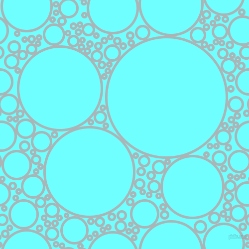 bubbles, circles, sponge, big, medium, small, 5 pixel line width, Casper and Baby Blue circles bubbles sponge soap seamless tileable