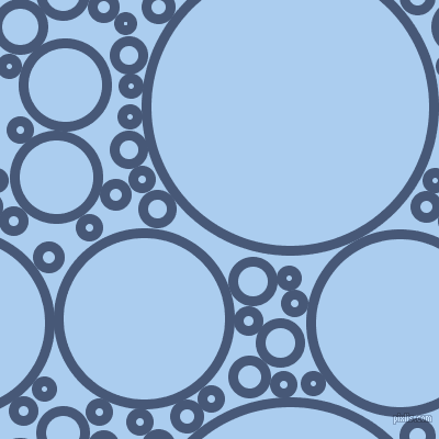 bubbles, circles, sponge, big, medium, small, 9 pixel line width, Chambray and Pale Cornflower Blue circles bubbles sponge soap seamless tileable