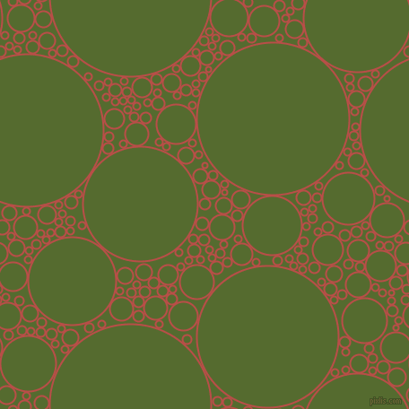 bubbles, circles, sponge, big, medium, small, 2 pixel line width, Chestnut and Dark Olive Green circles bubbles sponge soap seamless tileable
