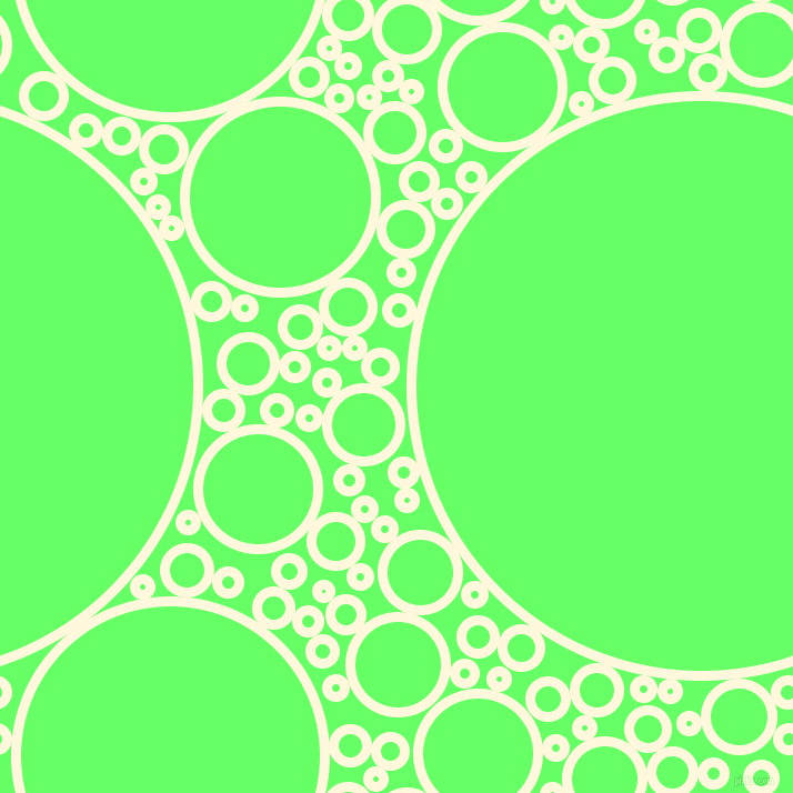 bubbles, circles, sponge, big, medium, small, 9 pixel line width, Corn Silk and Screamin
