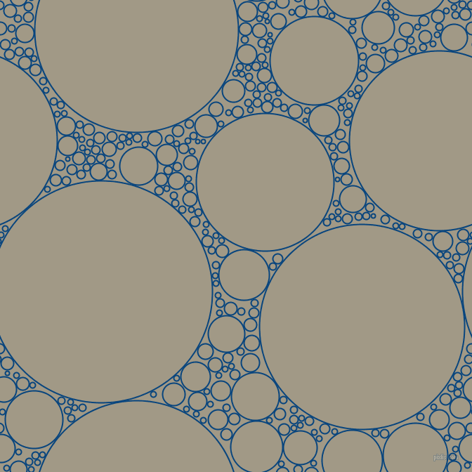 bubbles, circles, sponge, big, medium, small, 2 pixel line width, Dark Cerulean and Nomad circles bubbles sponge soap seamless tileable