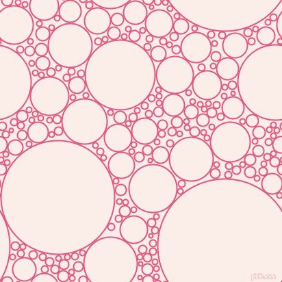 bubbles, circles, sponge, big, medium, small, 2 pixel line width, Dark Pink and Rose White circles bubbles sponge soap seamless tileable