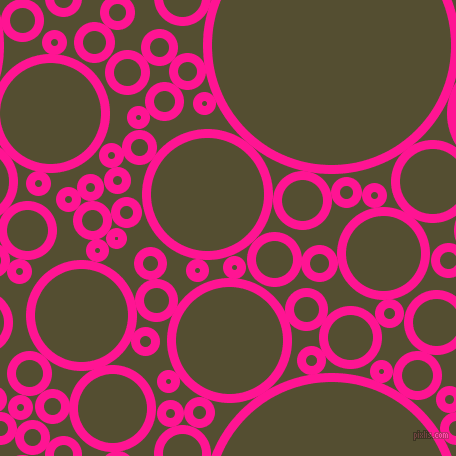 bubbles, circles, sponge, big, medium, small, 9 pixel line width, Deep Pink and Thatch Green circles bubbles sponge soap seamless tileable