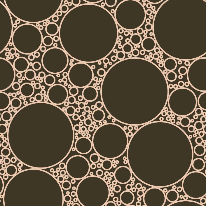 bubbles, circles, sponge, big, medium, small, 5 pixel line width, Desert Sand and Birch circles bubbles sponge soap seamless tileable