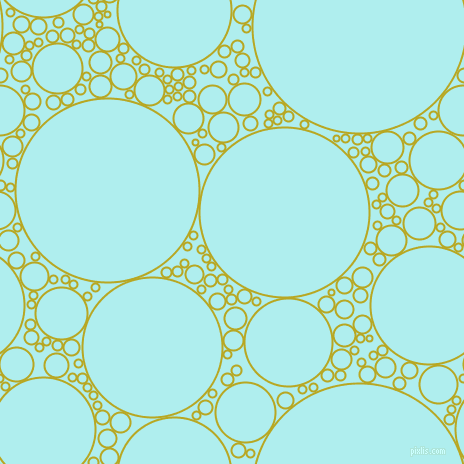 bubbles, circles, sponge, big, medium, small, 2 pixel line width, Earls Green and Pale Turquoise circles bubbles sponge soap seamless tileable