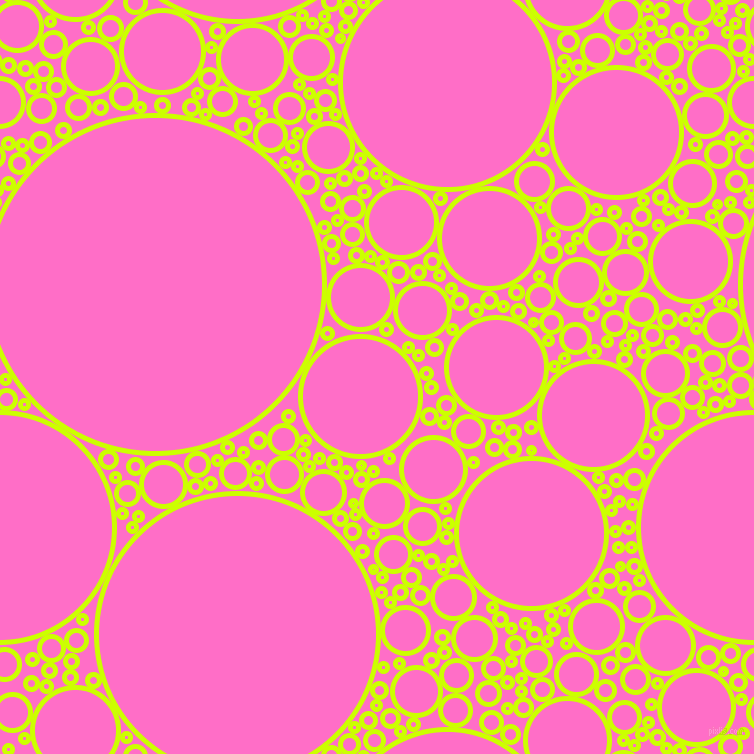 bubbles, circles, sponge, big, medium, small, 5 pixel line width, Electric Lime and Neon Pink circles bubbles sponge soap seamless tileable