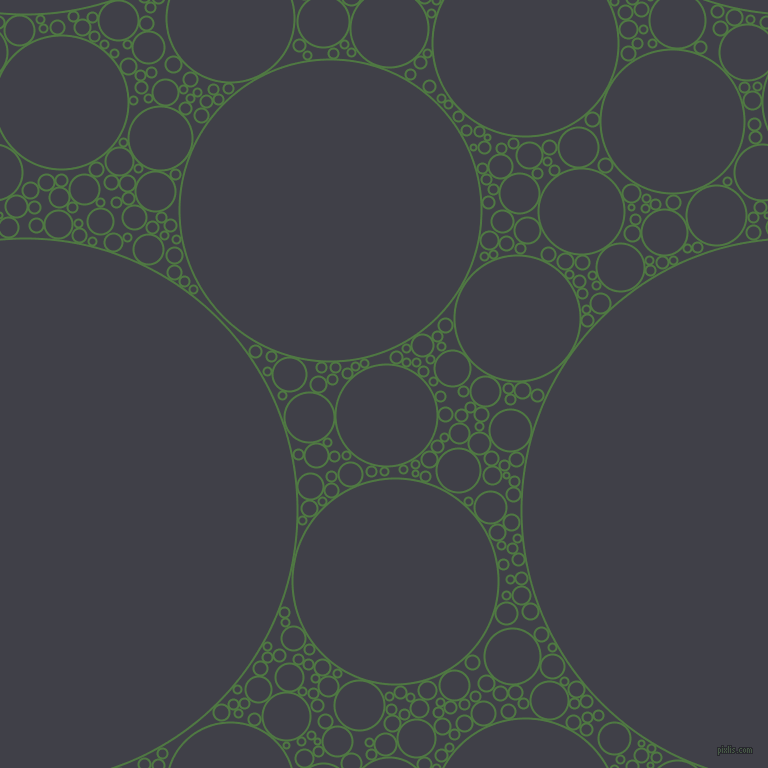 bubbles, circles, sponge, big, medium, small, 2 pixel line width, Fern Green and Payne