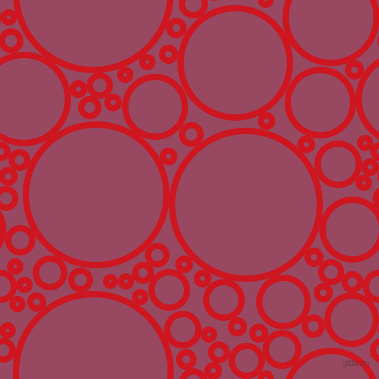 bubbles, circles, sponge, big, medium, small, 9 pixel line width, Fire Engine Red and Cadillac circles bubbles sponge soap seamless tileable
