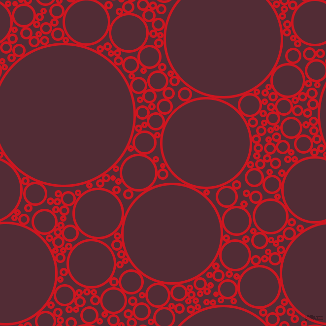 bubbles, circles, sponge, big, medium, small, 5 pixel line width, Fire Engine Red and Wine Berry circles bubbles sponge soap seamless tileable