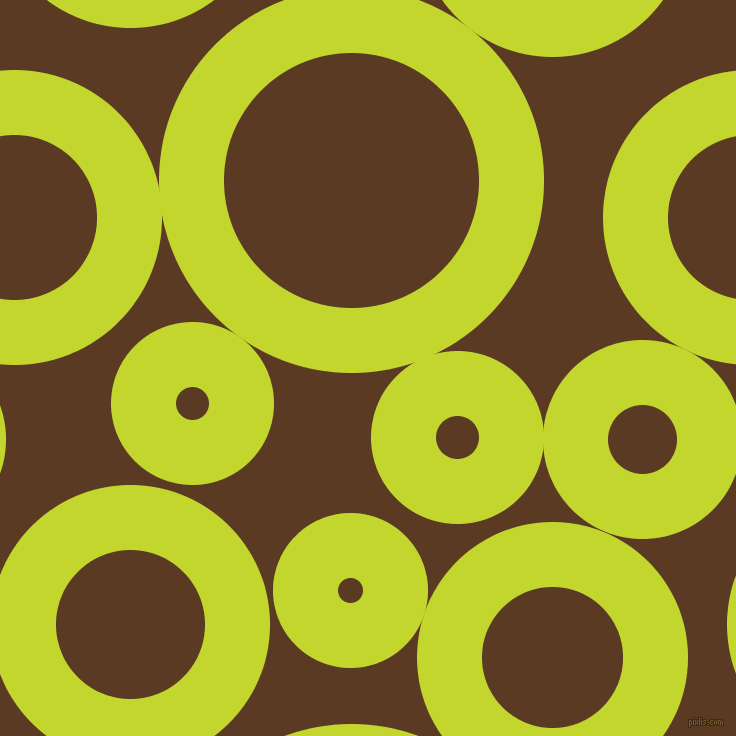 bubbles, circles, sponge, big, medium, small, 65 pixel line width, Fuego and Carnaby Tan circles bubbles sponge soap seamless tileable