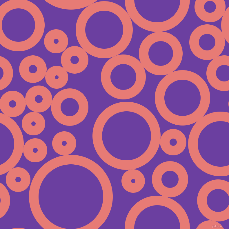 bubbles, circles, sponge, big, medium, small, 33 pixel line width, Geraldine and Royal Purple circles bubbles sponge soap seamless tileable
