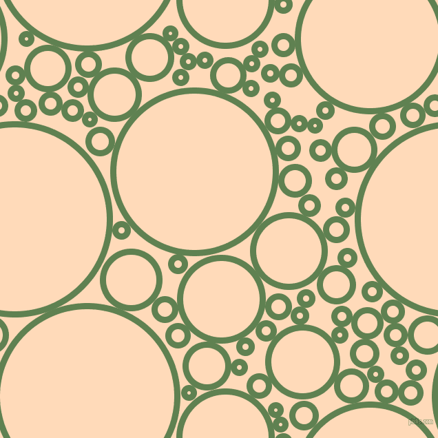 bubbles, circles, sponge, big, medium, small, 9 pixel line width, Glade Green and Peach Puff circles bubbles sponge soap seamless tileable