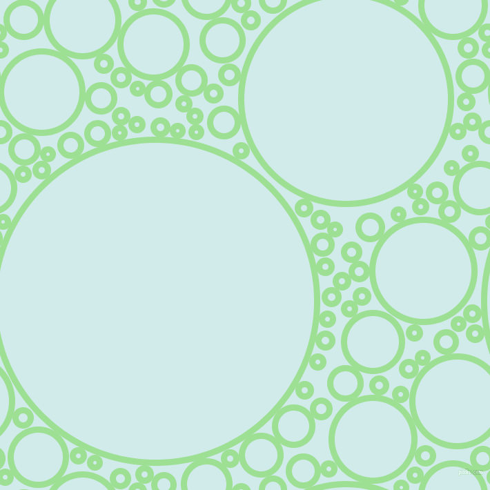 bubbles, circles, sponge, big, medium, small, 9 pixel line width, Granny Smith Apple and Oyster Bay circles bubbles sponge soap seamless tileable