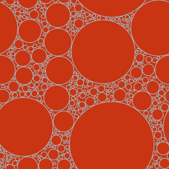 bubbles, circles, sponge, big, medium, small, 3 pixel line width, Gull Grey and Harley Davidson Orange circles bubbles sponge soap seamless tileable