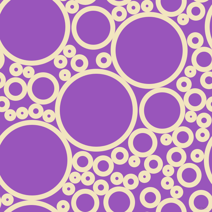 bubbles, circles, sponge, big, medium, small, 17 pixel line width, Half Colonial White and Deep Lilac circles bubbles sponge soap seamless tileable