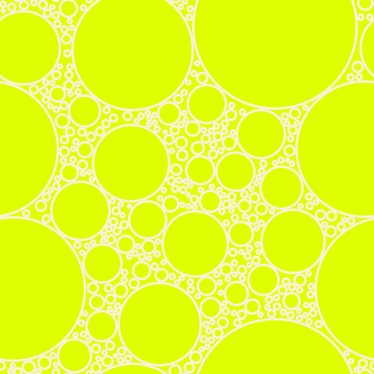 bubbles, circles, sponge, big, medium, small, 5 pixel line width, Half Dutch White and Chartreuse Yellow circles bubbles sponge soap seamless tileable