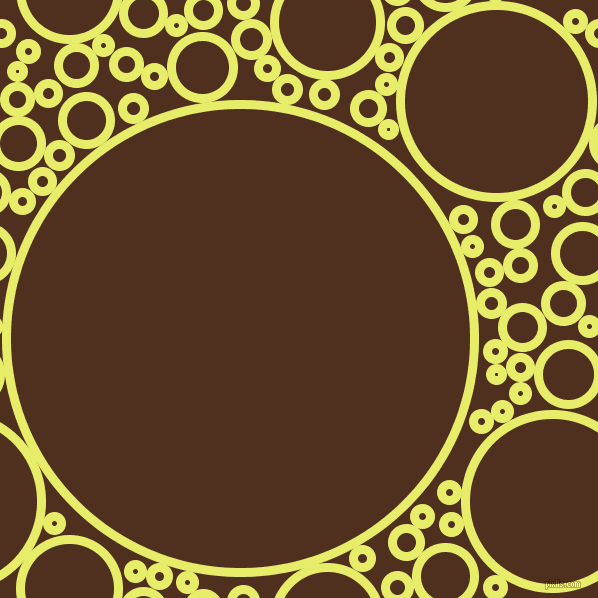 bubbles, circles, sponge, big, medium, small, 9 pixel line width, Honeysuckle and Indian Tan circles bubbles sponge soap seamless tileable
