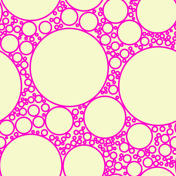 bubbles, circles, sponge, big, medium, small, 5 pixel line width, Hot Magenta and Carla circles bubbles sponge soap seamless tileable