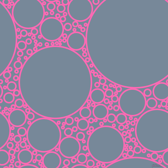 Hot Pink and Light Slate Grey circles bubbles sponge soap seamless ...