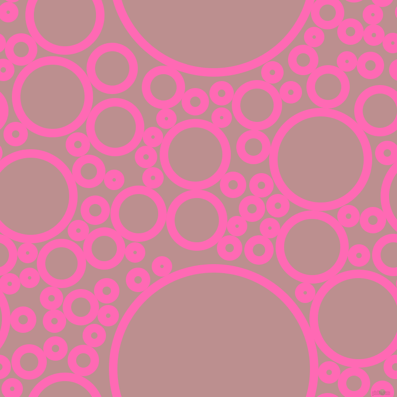 bubbles, circles, sponge, big, medium, small, 17 pixel line width, Hot Pink and Rosy Brown circles bubbles sponge soap seamless tileable