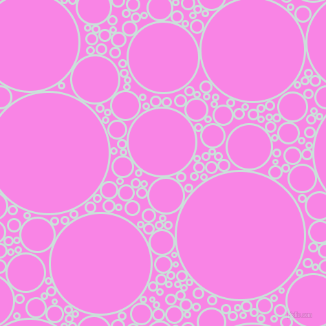bubbles, circles, sponge, big, medium, small, 3 pixel line width, Iceberg and Pale Magenta circles bubbles sponge soap seamless tileable