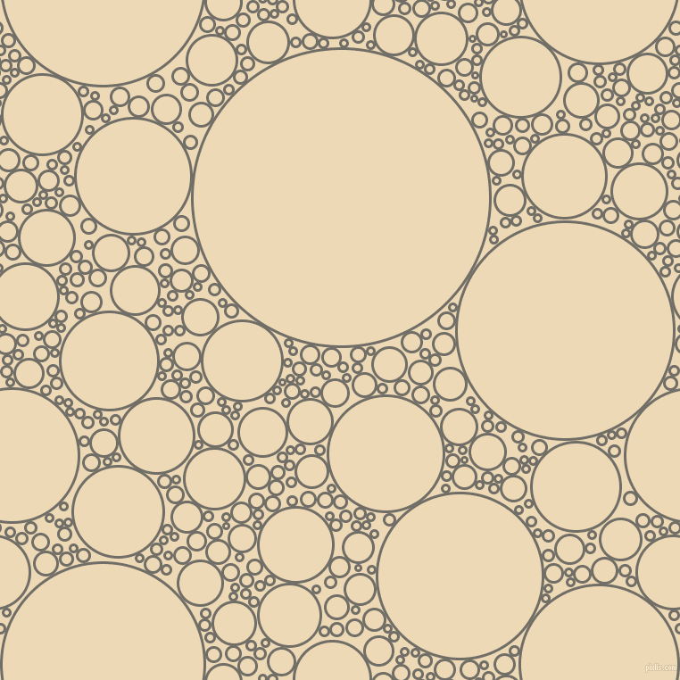 bubbles, circles, sponge, big, medium, small, 3 pixel line width, Ironside Grey and Champagne circles bubbles sponge soap seamless tileable