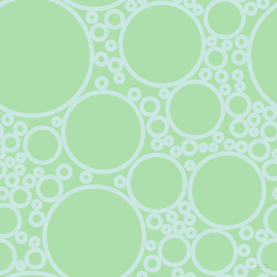 bubbles, circles, sponge, big, medium, small, 9 pixel line width, Jagged Ice and Moss Green circles bubbles sponge soap seamless tileable