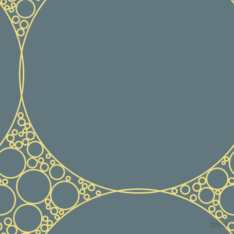 bubbles, circles, sponge, big, medium, small, 3 pixel line width, Light Goldenrod and Blue Bayoux circles bubbles sponge soap seamless tileable