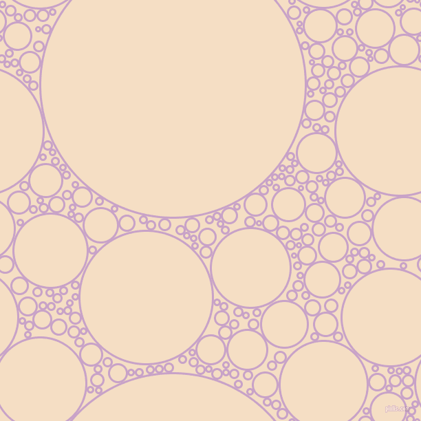 bubbles, circles, sponge, big, medium, small, 3 pixel line width, Lilac and Sazerac circles bubbles sponge soap seamless tileable