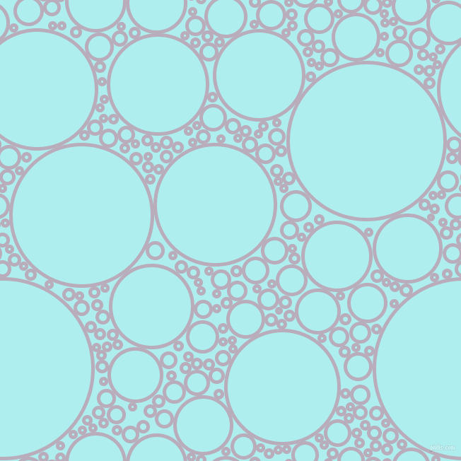 bubbles, circles, sponge, big, medium, small, 5 pixel line width, Lola and Pale Turquoise circles bubbles sponge soap seamless tileable