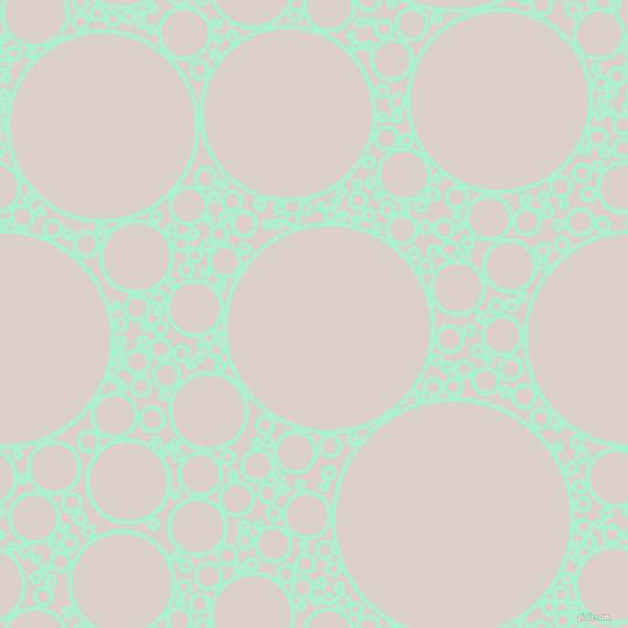 bubbles, circles, sponge, big, medium, small, 5 pixel line width, Magic Mint and Swiss Coffee circles bubbles sponge soap seamless tileable