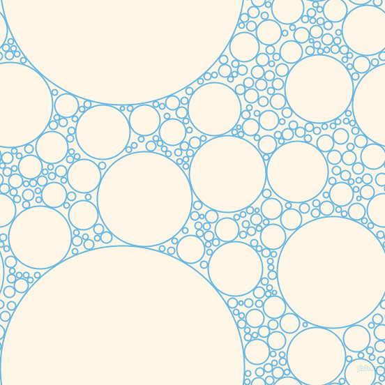 bubbles, circles, sponge, big, medium, small, 2 pixel line width, Malibu and Old Lace circles bubbles sponge soap seamless tileable