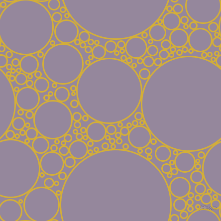 bubbles, circles, sponge, big, medium, small, 3 pixel line width, Metallic Gold and Amethyst Smoke circles bubbles sponge soap seamless tileable