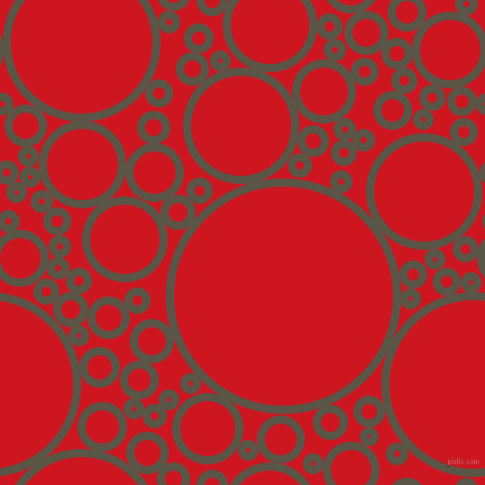 bubbles, circles, sponge, big, medium, small, 9 pixel line width, Millbrook and Fire Engine Red circles bubbles sponge soap seamless tileable