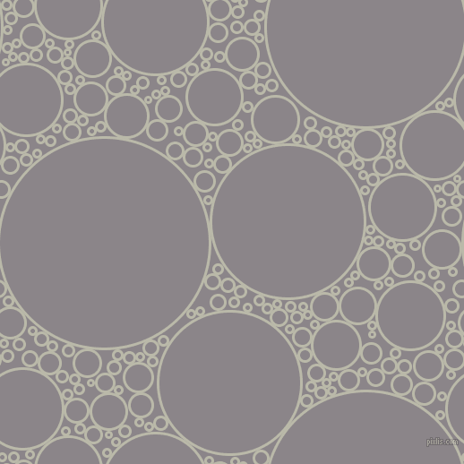 bubbles, circles, sponge, big, medium, small, 3 pixel line width, Mist Grey and Taupe Grey circles bubbles sponge soap seamless tileable