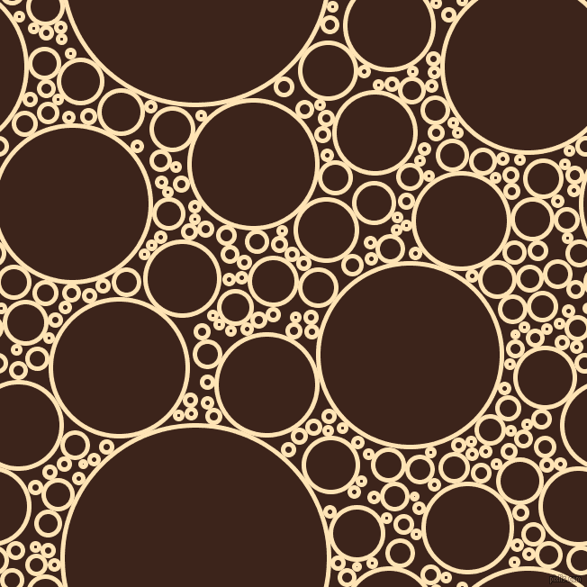 bubbles, circles, sponge, big, medium, small, 5 pixel line width, Moccasin and Brown Pod circles bubbles sponge soap seamless tileable