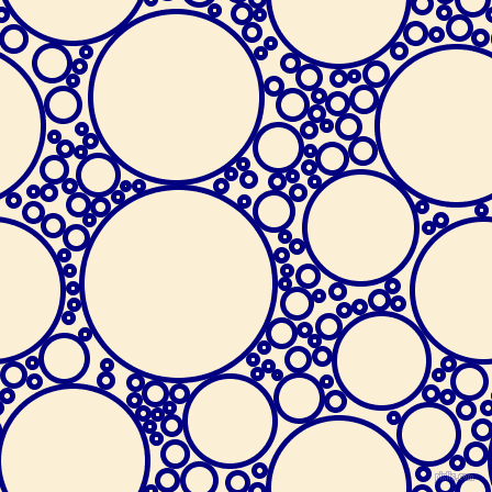 bubbles, circles, sponge, big, medium, small, 5 pixel line width, Navy and Half Dutch White circles bubbles sponge soap seamless tileable