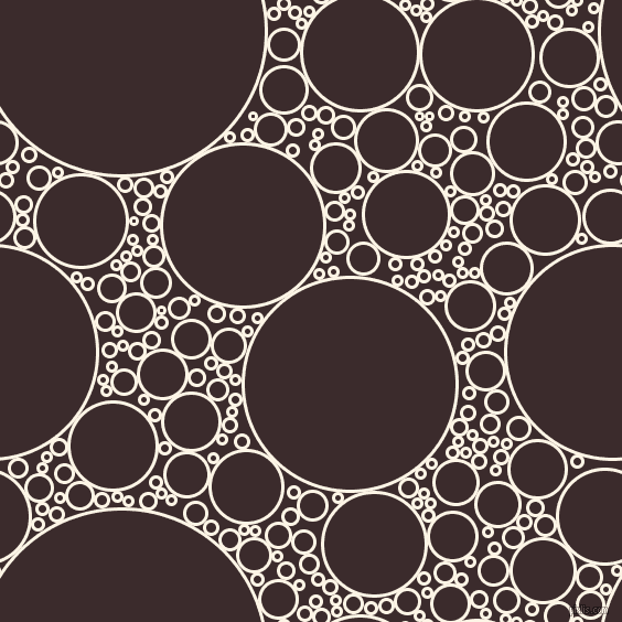 bubbles, circles, sponge, big, medium, small, 3 pixel line width, Old Lace and Havana circles bubbles sponge soap seamless tileable