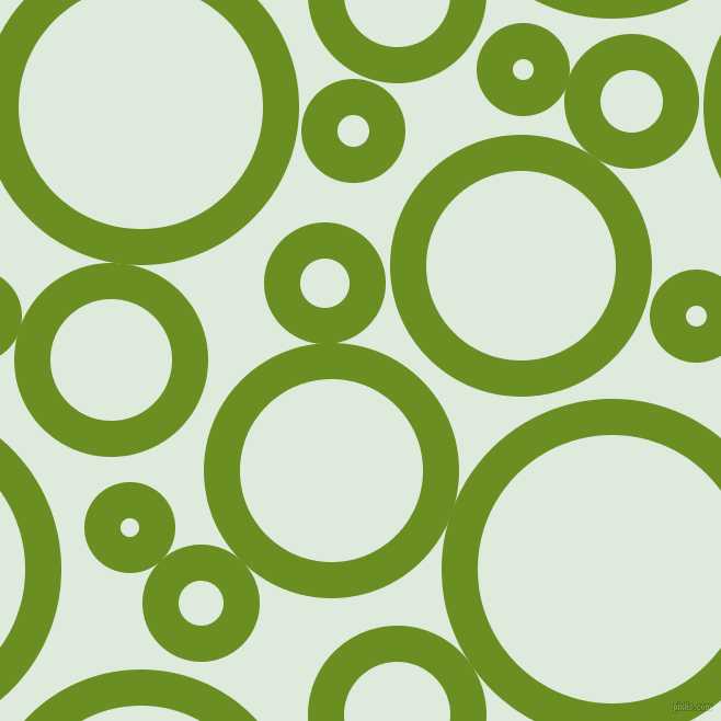 bubbles, circles, sponge, big, medium, small, 33 pixel line width, Olive Drab and Apple Green circles bubbles sponge soap seamless tileable