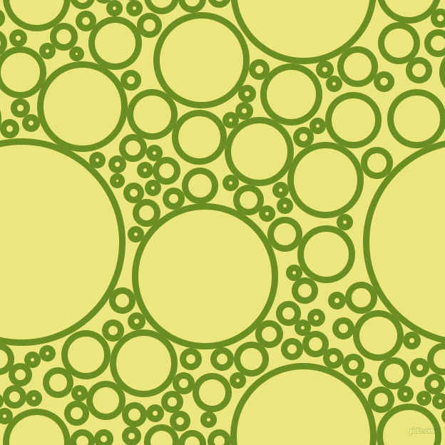 bubbles, circles, sponge, big, medium, small, 9 pixel line width, Olive Drab and Texas circles bubbles sponge soap seamless tileable