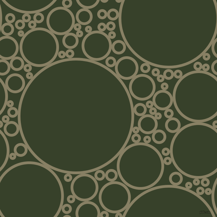 bubbles, circles, sponge, big, medium, small, 9 pixel line width, Olive Haze and Seaweed circles bubbles sponge soap seamless tileable